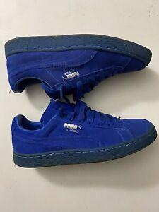 Puma Men's Suede Blue Suede Sneakers Men Size 8