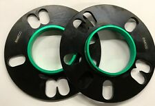 BLACK BIMECC ALLOY WHEEL SPACERS 10MM 73.1 - 65.1 X 2 FOR MINI ROVER N