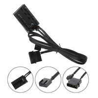 1 To 8 4-Pin Molex TX4 PWM CPU Cooling Fan Splitter Adapter Braided Power Cable