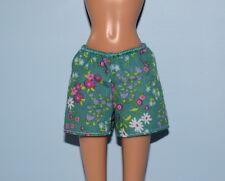 Green Shorts w/ Purple, Pink & White Floral Print Genuine Barbie - Fits Curvy