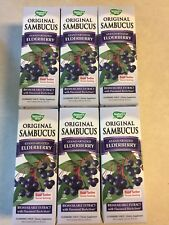 PACK of 6: Nature's Way Sambucus Black Elderberry Syrup 8oz  UPC 033674153321