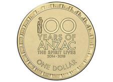 AUSTRALIA 2017 $1 ANZAC - SPIRIT LIVES 1914 - 1918 RAM MINT ROLL