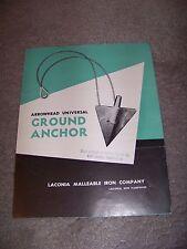 Loconia Malleable Iron Company Arrowhead Universal Ground Anchor New Hampshire