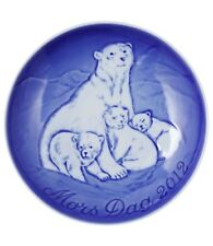 Bing & Grondahl 2012 Mother's Day Plate NIB Polar Bear with Cubs NEW IN BOX