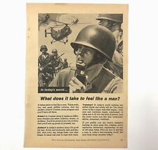 Vintage Print Ad 1963 U.S. Army Recruitment Advertising Helicopter Man Pride