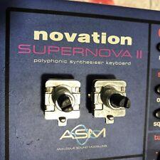 Novation Supernova II et Nova Données Et Demi-Ton/Octave Alpha encodeurs-Deux Nations Unies.