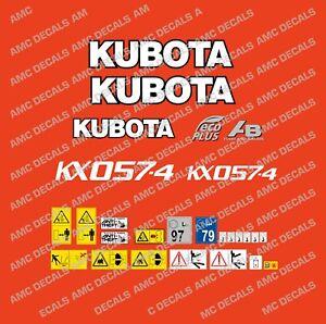 KUBOTA KX057-4 ECO PLUS DECAL STICKER SET