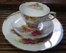 """3-Piece Vintage """"Old Ireland"""" Shelley England Tea Cup, Saucer, and Plate Set VGC"""
