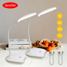 2X Dimmable LED Desk Light Bedside Reading Lamp Touch...
