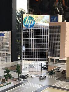 HP Branded N Scale / HO Scale Building Variation 1