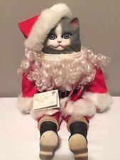 Betty Jane Carter GOEBEL DOLL Porcelain Musical Santa Cat Kitty SANTA CLAWS II