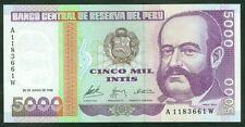 TWN - PERU 137 - 5000 Intis 28/6/1988 UNC Printer G&D