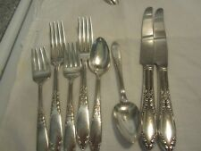 Vtg National King Edward Silverplate 2 Place Settings fork spoon knife dessert