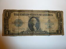 Old Vintage 1923 One Dollar Bill $1 Blue Seal Silver Certificate Large Note