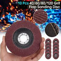 10X Sanding Flap Discs Metal Sanding Flap Discs Angle Grinder Wheels 4.5'' 115MM