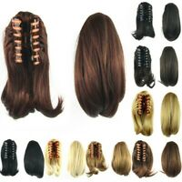 Clip In Ponytail Claw On Hair Piece Pony-Tail 26cm Short Straight Hair Extension