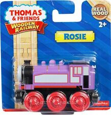 Fisher-Price Thomas & Friends Real Wooden Railway Train, Rosie Engine - RARE