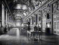 THE LOUVRE GALLERY IN LOUVRE PARIS FRANCE 1890 OLD BW PRINT 2002BWB