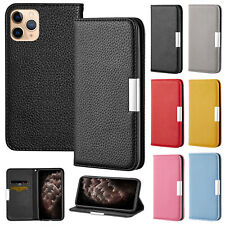 For iPhone 11 Pro Max Case XR XS 7 Plus 8 6s Magnetic Flip Leather Wallet Cover