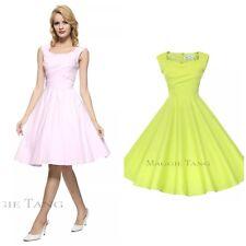 Maggie Tang Tea Dress Sz XXL 2X Green Hepburn Rockabilly Pinup Party Swing