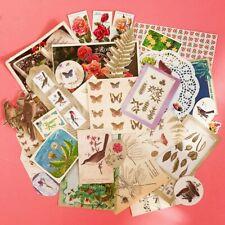 30 PCS Cottagecore Junk Journal Pack Vintage Ephemera Paper Curios Mixed Craft