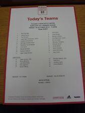 18/10/2013 Fulham U21 v Newcastle United U21  (single sheet teamsheet). Thanks f