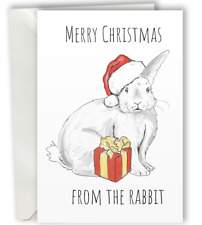 Merry Christmas from the Rabbit Greeting Card A6