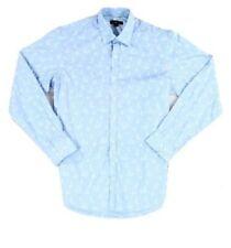 Club Room Blue Sail Boat Print Mens Medium M Button Down Shirt Cotton Super Cool