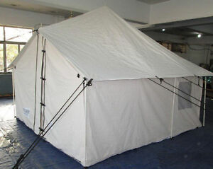 10' x 10' Selkirk Spike Tent - Water and Mildew Treated 10.1oz Canvas