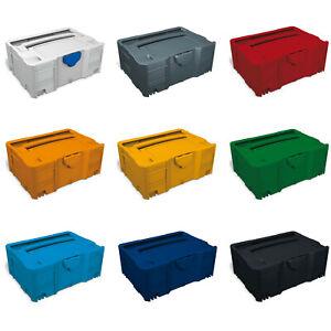 TANOS Systainer T-Loc SYS TL 2 Grau Anthrazit Rot Orange Gelb Grün Blau Schwarz