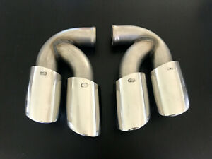Porsche Cayenne Turbo twin exhaust tips 2011~13 ONE PAIR