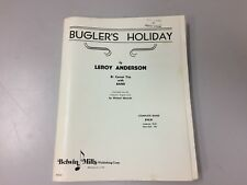 """Bugler's Holiday"" By Leroy Anderson - Concert Band w/ Cornet Trio Score & Parts"