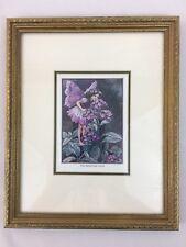 "Cicely Mary Barker The Heliotrope Fairy Framed Art Print Gold Wood Frame 8.5x11"""