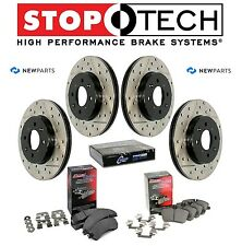 For Honda Acura Front Rear StopTechDrilled Slotted Brake Rotors Kit Ceramic Pads
