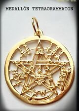 925 Sterling gold Tetragrammaton eliphas Pendant  pentagrama esoterico plata
