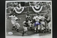 Clem Labine Carl Erskine Dodgers World Series Autograph 8x10 UP Press Photo JSA
