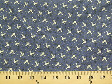 *BTY* Small Doves on Blue Fabric cotton material peace birds Christian Bible