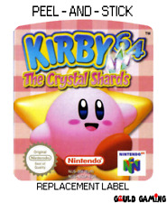 Kirby 64 The Crystal Shards Replacement Label Sticker Decal Vinyl Video Game New