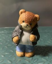 Enesco 1988 Lucy & Me Lucy Rigg Greaser / 50's Black Jacket Bear Rare