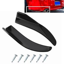 2x Car Rear Bumper Lip Diffuser Splitter Canard Protector Glossy Black Universal
