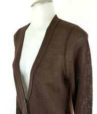 J. Crew Women Medium, Merino Wool Alpaca Brown Bling Button Cardigan Sweater EUC