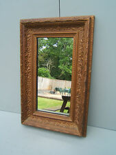 "Vintage wall mirror gilt frame 17"" x 11"" nice design &condition MS1"