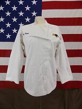 Chef Revival Big Jane Panther Long Sleeve  Button Front Jacket White Size Small