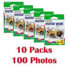 10 Packs FujiFilm Pellicola istantanea Instax Wide Film, 100 FOTOCAMERE 210 300