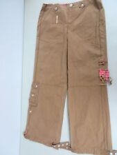 NWT $128  OILILY   cotton  twill ~ adjustable wide leg~ cargo brown pants 38