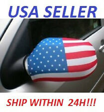 Pair Of new Usa flag Car Mirror Covers - - 4th Of July!