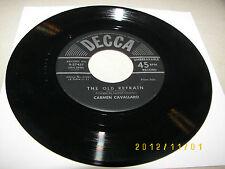 Carmen Cavallaro The Old Refrain / Stars In My Eyes 45 NM Decca 9-27457