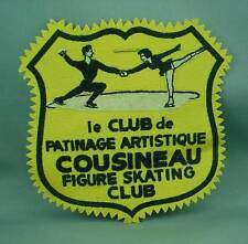 Vintage Patch COUSINEAU FIGURE SKATING CLUB Le Club de Patinage Artistique