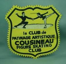 Vintage Patch COUSINEAU FIGURE SKATING CLUB Le Club de Patinage Artistique