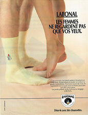 PUBLICITE ADVERTISING   1988   LABONAL  chaussettes